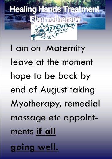 attention maternity leave