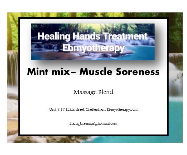 labels - Mint mix muscle soreness