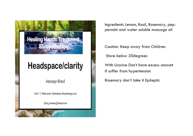 oil info card Clarity headspace