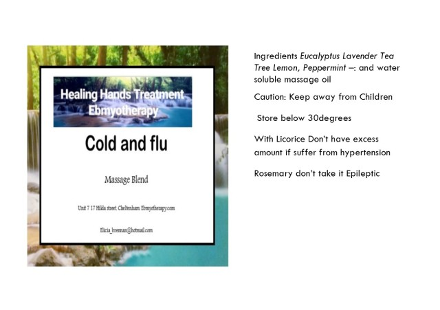 oil info card cold and flu